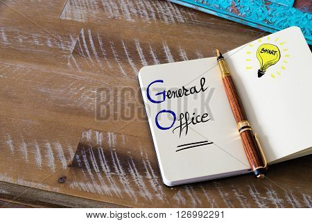 Business Acronym Go General Office