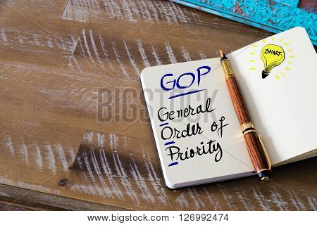 Business Acronym Gop General Order Of Priority