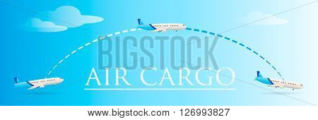 Plane vector. Airplane icon. Plane cargo. Cargo transportation. Transportation logistics. Air cargo. Plane takeoff.