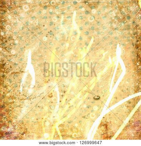 Old Vintage Paper Background With  Abstract Pattern