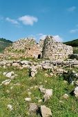 picture of nuragi  - anciet nuraghe at west coast of sardinia - JPG