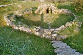 pic of nuragi  - anciet nuraghe at west coast of sardinia - JPG