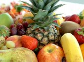 picture of fruit bowl  - gorgeous bowl of fruit - JPG