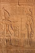image of isis  - Hieroglyphic carving on the wall of the Temple of Isis at Philae - JPG