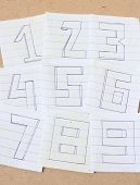 Постер, плакат: The Numbers On The Old Grunge Paper