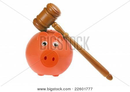 Gavel And Piggybank