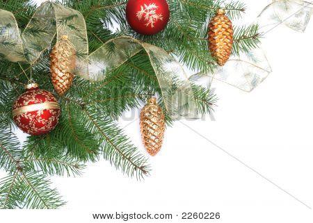 Árbol de Navidad y adornos decoraciones