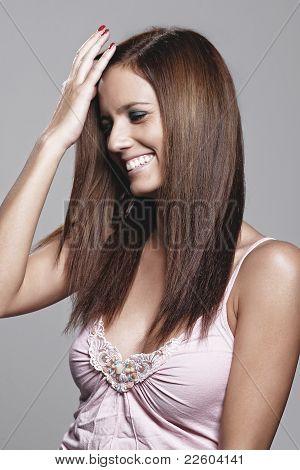 Smiling brunette portrait