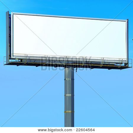 white Canvas Giant Poster Outdoor Advertising
