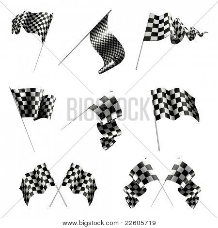 Checkered Flags set, bitmap copy