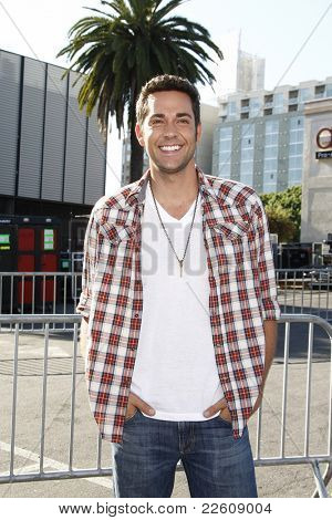 LOS ANGELES - AUGUST 14: Zachary Levi at the 2011 VH1 Do Something Awards at the Hollywood Palladium on August 14, 2011 in Hollywood, Los Angeles, California.