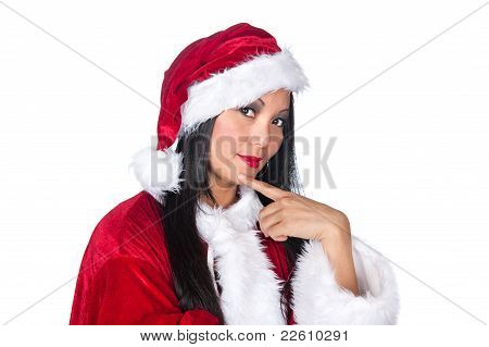 Asian Woman Santa Claus