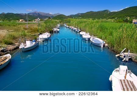 Andratx port marina in Mallorca balearic islands Torrent des Salvel Llaut boats