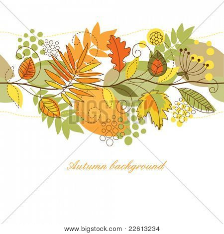 seamless autumn horizontal background