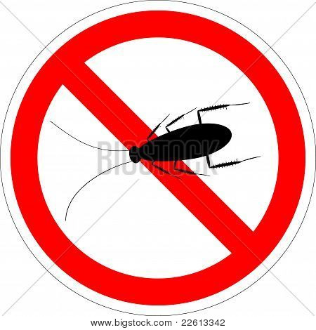 Forbidding vector sign - stop cockroach