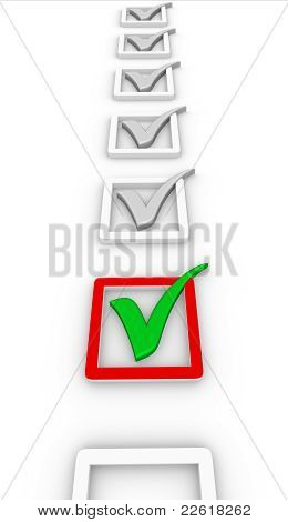 Check List And Green Check Mark