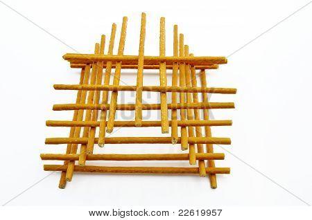 Bread Straws Tower