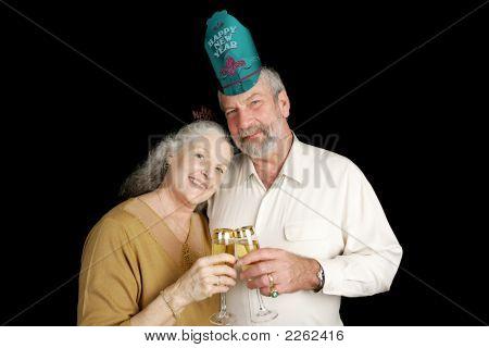Mature New Years Couple