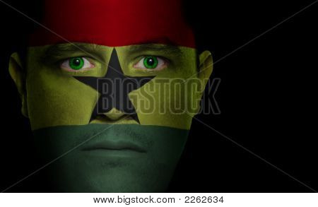 Ghanaian Flag - Male Face