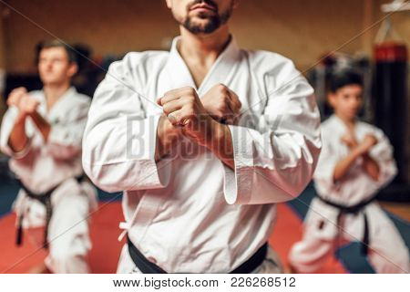 Martial arts fighters hone their