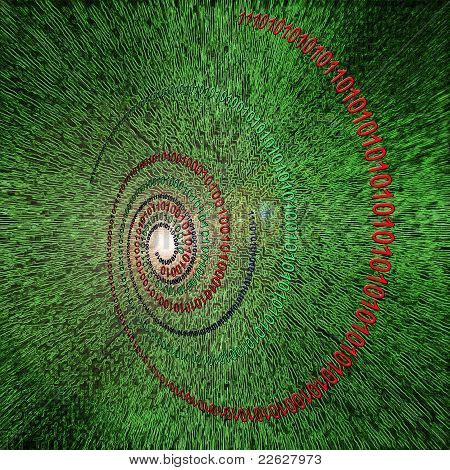 Binary data code abstract illustration