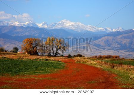 Colorful View Of The Rocky Mountains