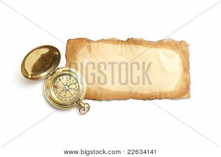 Antique Paper And Compass