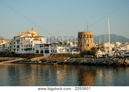 Puerto Banus Harbour, In Marbella, Spain