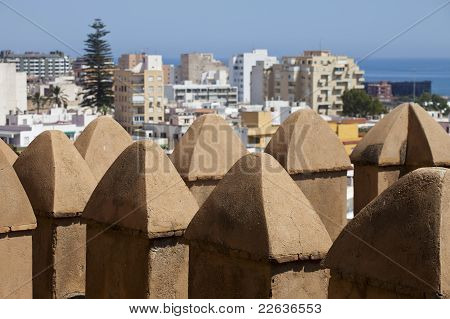 View Over Battlements At Almeria