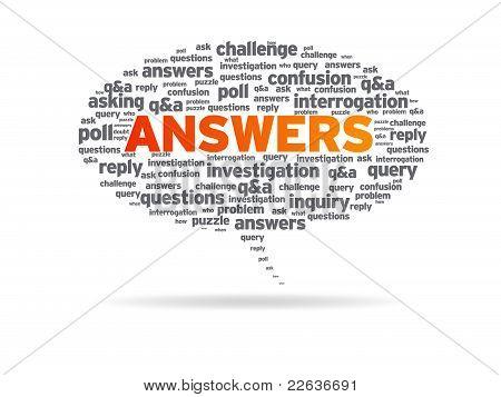Speech Bubble - Answers