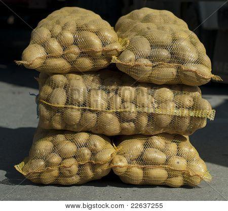 Potatoes In Mesh Bags