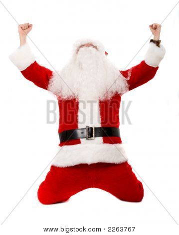 Father Christmas Celebrating