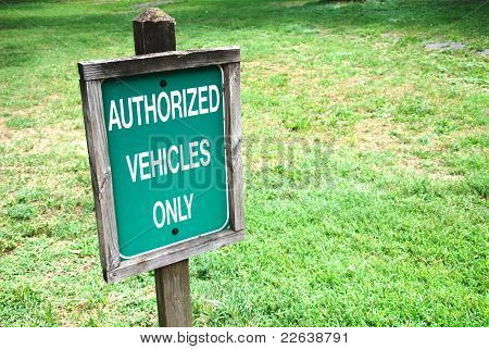 authorized sign