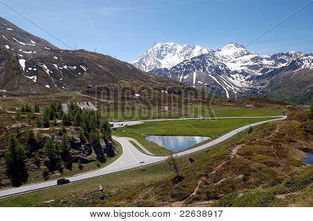 Simplon Pass landscape