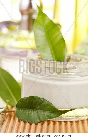 bottle of organic cream