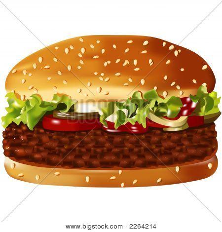 Big,  American Hamburger