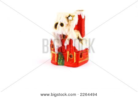 Tiny Red Xmas House