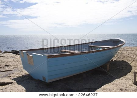 Boat Looking Out To Sea