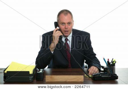 Businessman Phone Call