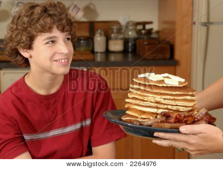 Boy Is Served Enormous Breakfast