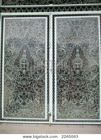 Royal Palace Doors Cambodia