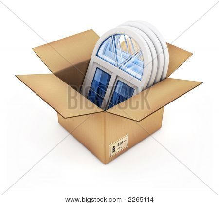 Cardboard Box With Plastic Windows