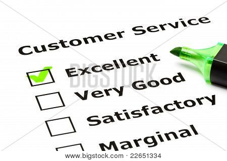 Customer Service Evaluatieformulier