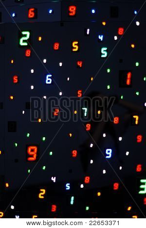 Colourful digital numbers