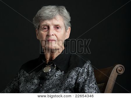 Portait Of An 83 Year Old Woman