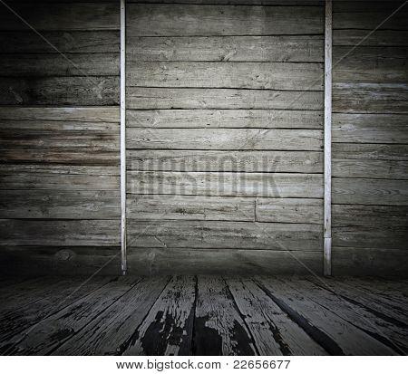 old wooden interior, vintage background