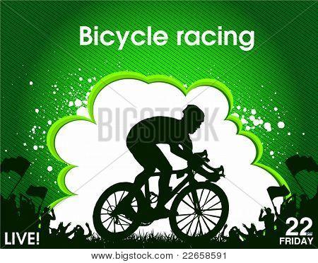 bicycle racing poster