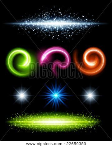 Abstract digital effect big set for design. Vector illustration Eps 10.
