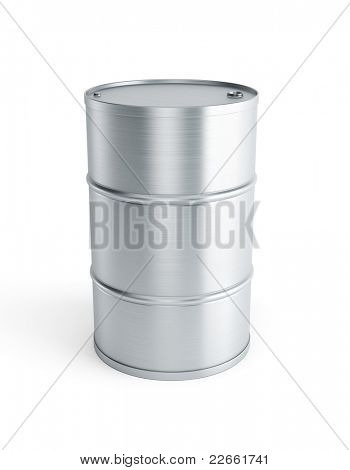 stell barrel isolated 3d render