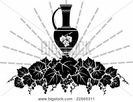 Vine symbol stencil